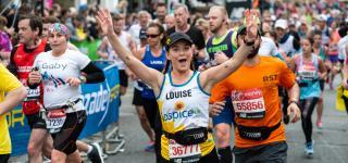 Hospice UK runner at the 2019 London Marathon