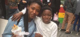 Mimi and her son Ike Jnr