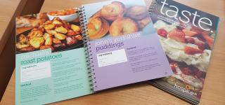 A photo of Hospice UK's taste cookbook
