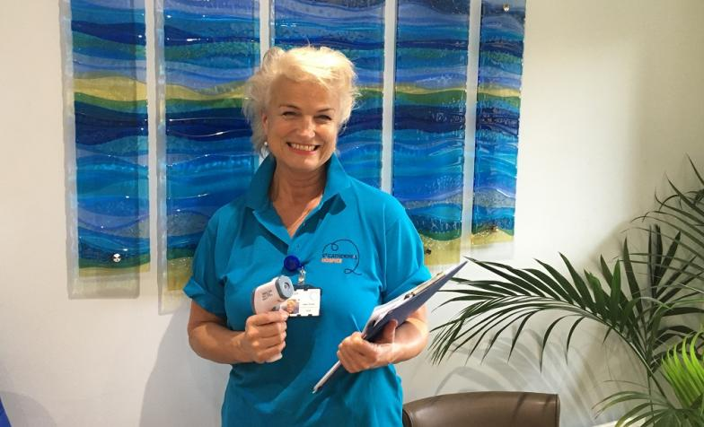Helen Pointer, volunteers at St Catherine's Hospice in Crawley
