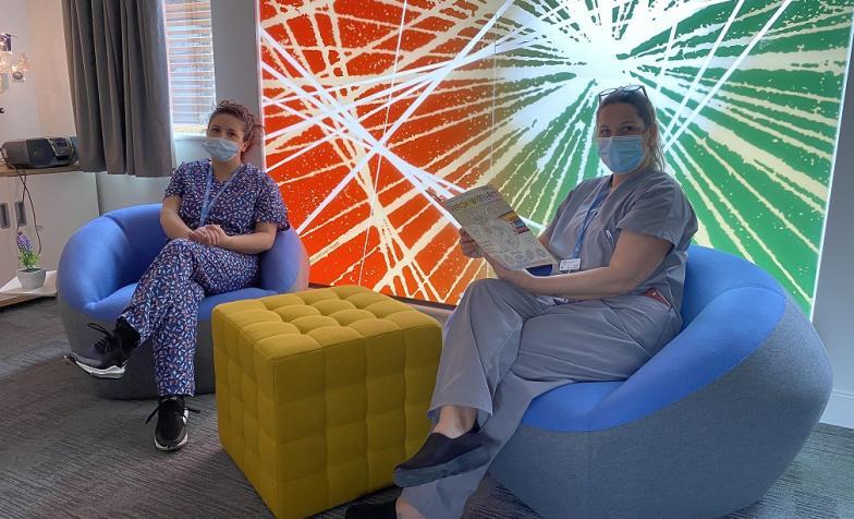 Havens Hospice nurses sitting together