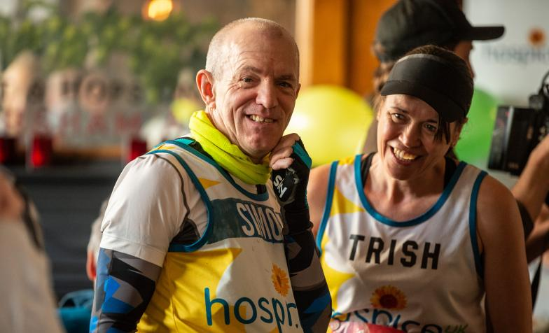 Two of Hospice UK's runners at the 2019 London Marathon