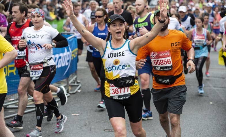 London Marathon 2019 participant celebrating