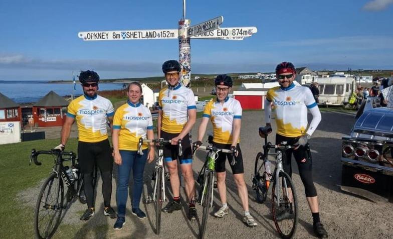 Hospice UK cycling team 2019