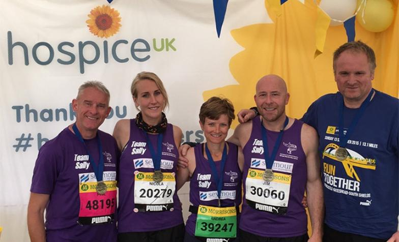 A group of runners raising money for hospice care
