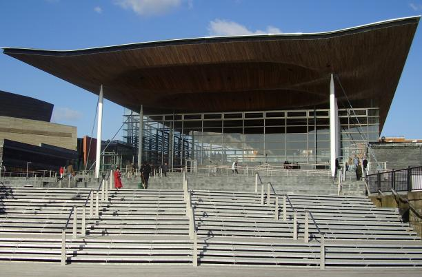 The Welsh Government building in Cardiff, the Senedd