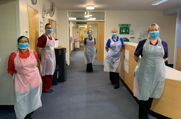 A group of staff at the inpatient unit at The Myton Hospices