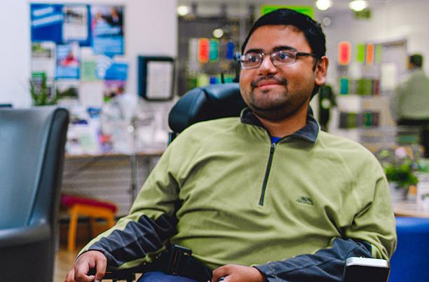 Adil, who attends the Young Adults sessions at St Christopher's Hospice