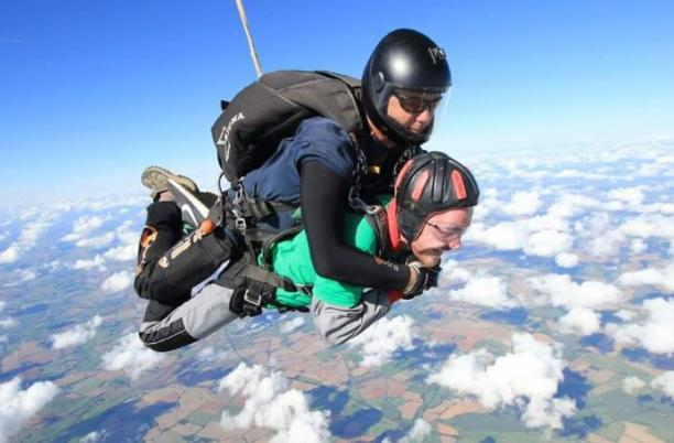 Skydiving fundraising event