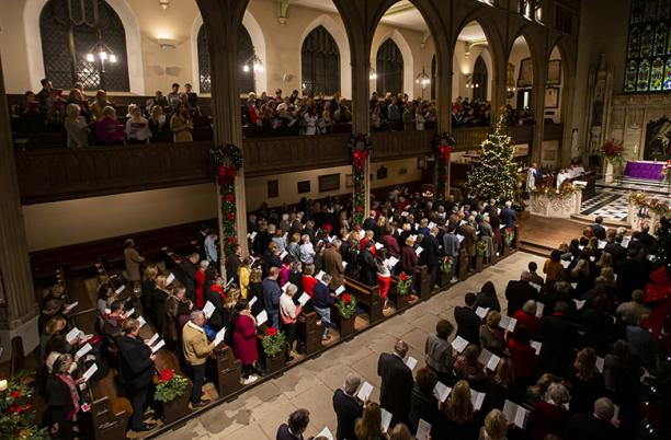 A photo from the 2019 Hospice UK Carol Service, held in London