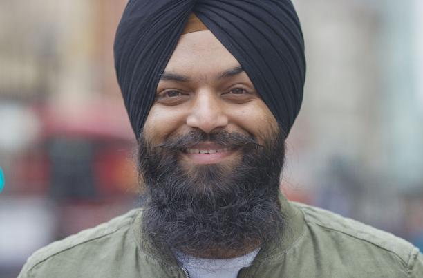 Man with turban portrait