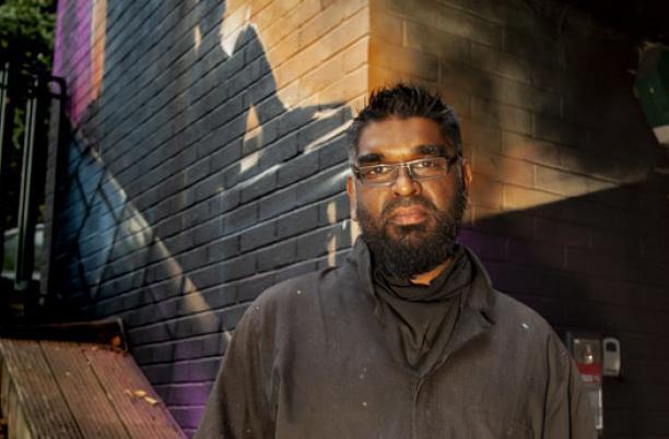 Portrait of the artist Mohammed Ali
