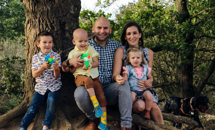 Lewan De Jager and his family