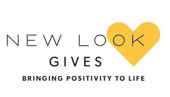 New Look Gives logo with yellow heart
