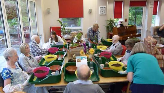 A group attending the social and therapeutic horticulture at Phyllis Tuckwell