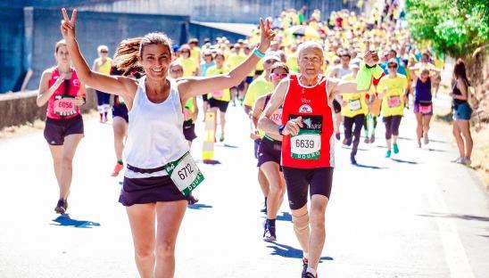 A stock photo of someone in a fun run