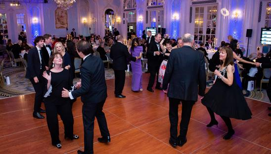 Guests dancing at the 2019 Hospice UK Gala Dinner