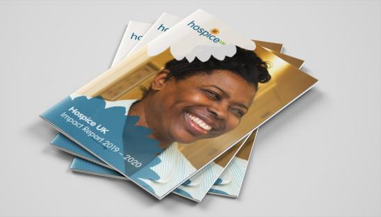 A mockup of the front covers of our 2020 Impact Report